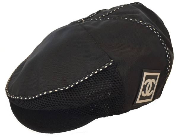 6f467b42 Men's nylon mesh hunting cap here mark for the like-new Chanel hat sports  line hunting cap hat black black medium size Lady's woman