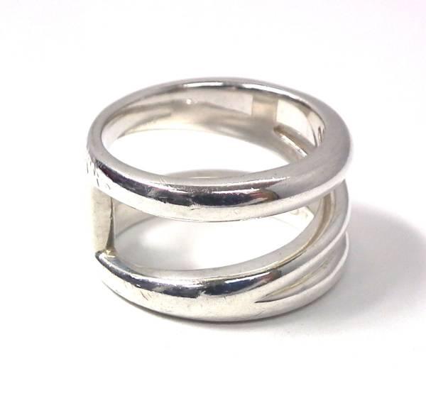 ティファニー シルバー リング SV925 11号 TIFFANY デザインリング 指輪 レディース 【中古】