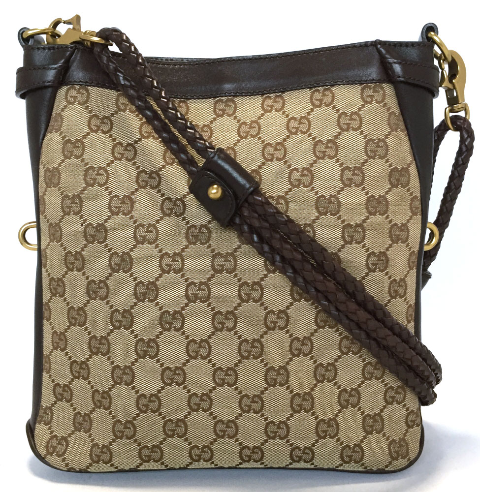 234d5786829f The shoulder which takes Gucci shoulder bag Lady's GG canvas GG beige  slant, and includes pochette 109106 beauty article GUCCI brown knitting