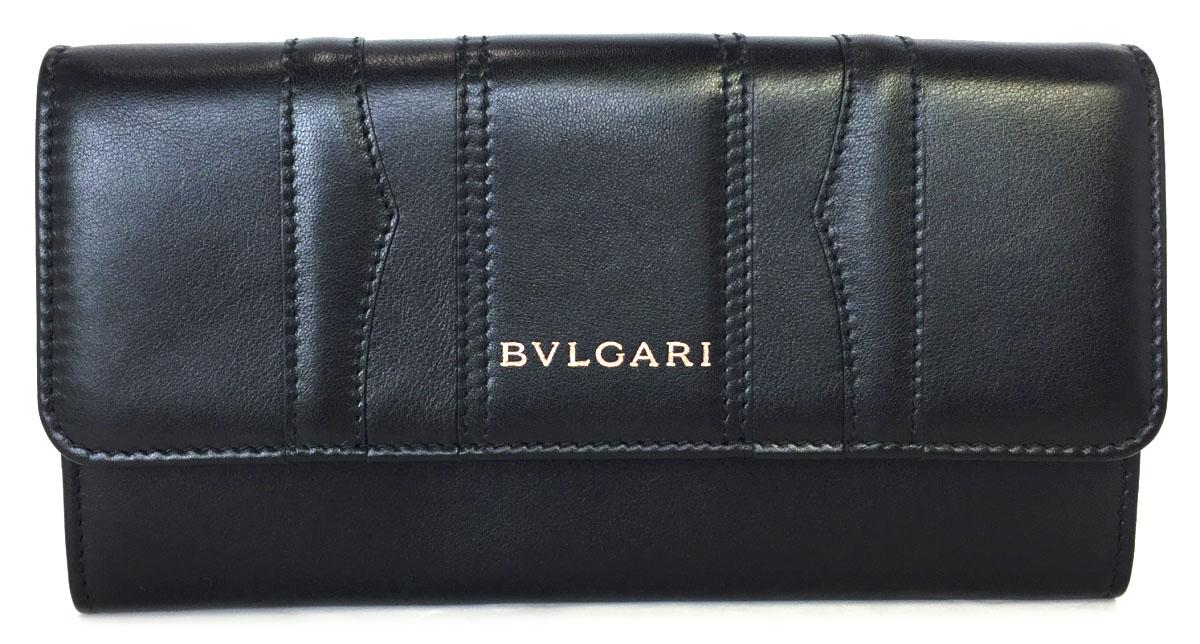 未使用 ブルガリ 長財布 ブラック 黒 B-ZERO1 財布 33772 レザー メンズ レディース ビーゼロ1 BVLGARI B-zero1 ビーゼロワン 【中古】