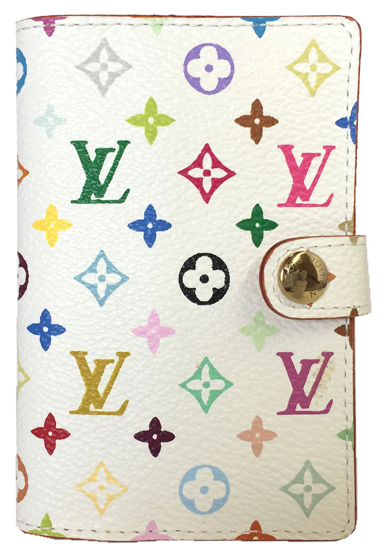 Like New Louis Vuitton Agenda Mini Card Case Card Case Multicolored Monogram M92653 Colorful Notebook Cover Notebook Lady S Lv Louis Vuitton Louis