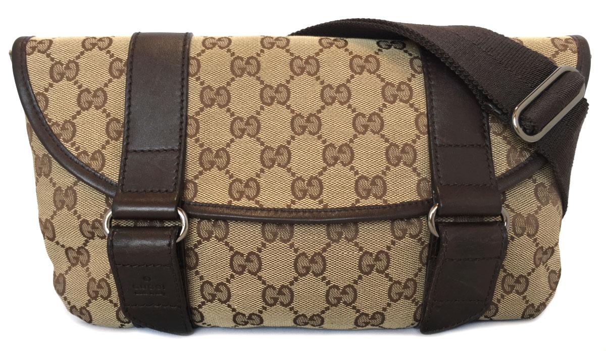 5fb2dd08b06 Gucci bum-bag belt bag GG GG canvas beige body bag waist porch 145851 GUCCI  men gap Dis man and woman combined use brown