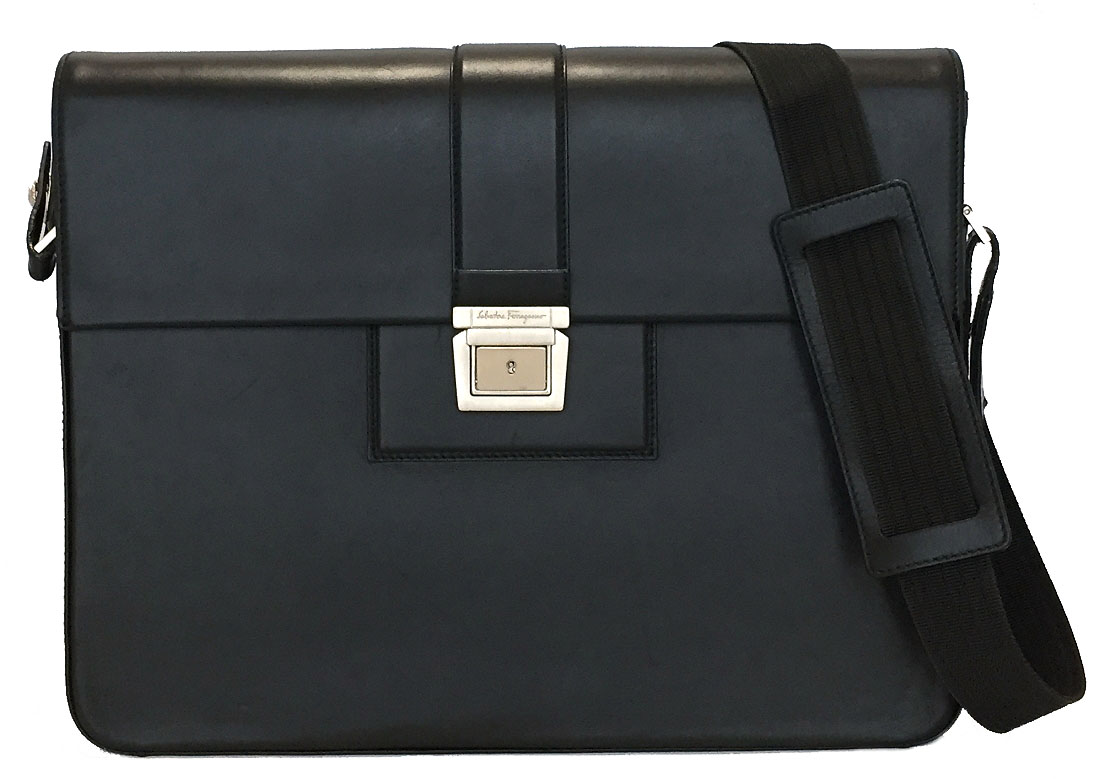 471250ba91bd Ferragamo shoulder bag men business bag PC bag PC bag leather black black  beauty product FERRAGAMO business case briefcase gentleman PC bag
