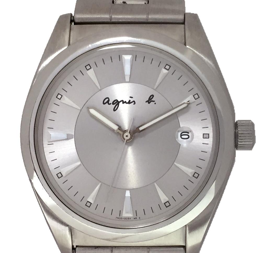 アニエスベー 時計 メンズ 腕時計 ウォッチ クォーツ シルバー ステンレス agnes b.メンズウォッチ QZ アニエス b. SS 【中古】