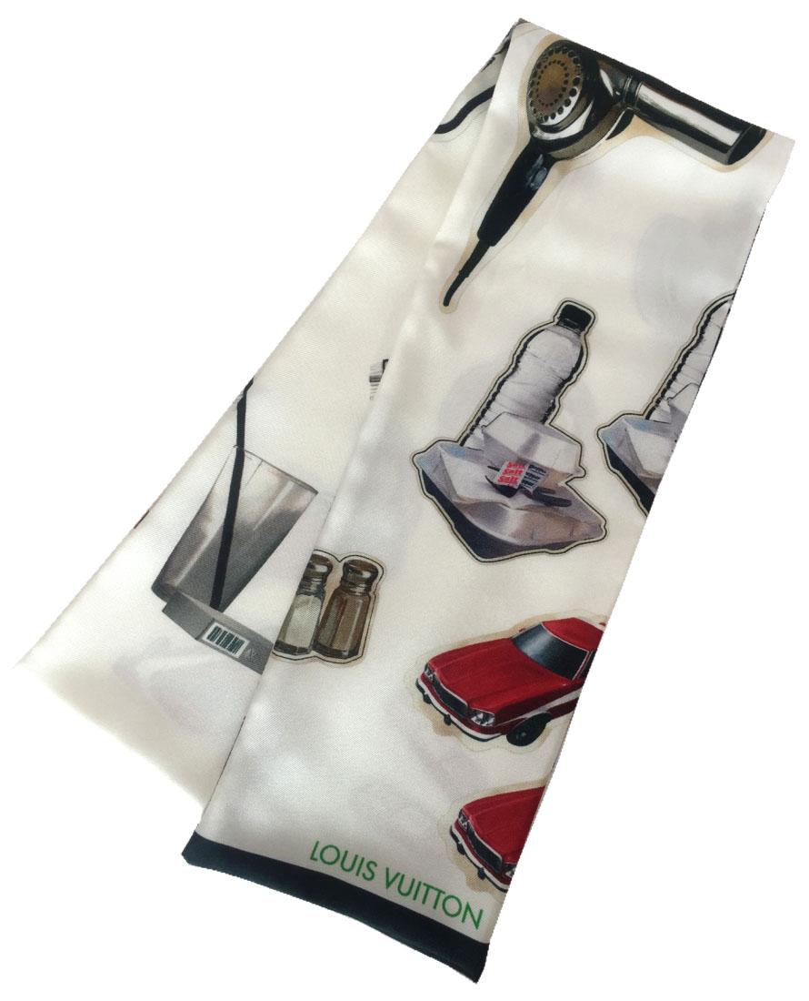 新品同様 ルイヴィトン バンドースカーフ ステッカー MP1568 車 ロング スカーフ リボン スカーフ LV ビトン シルクスカーフ シルク100% LOUIS VUITTON ルイ・ビトン ルイ・ヴィトン ルイビトン 【中古】