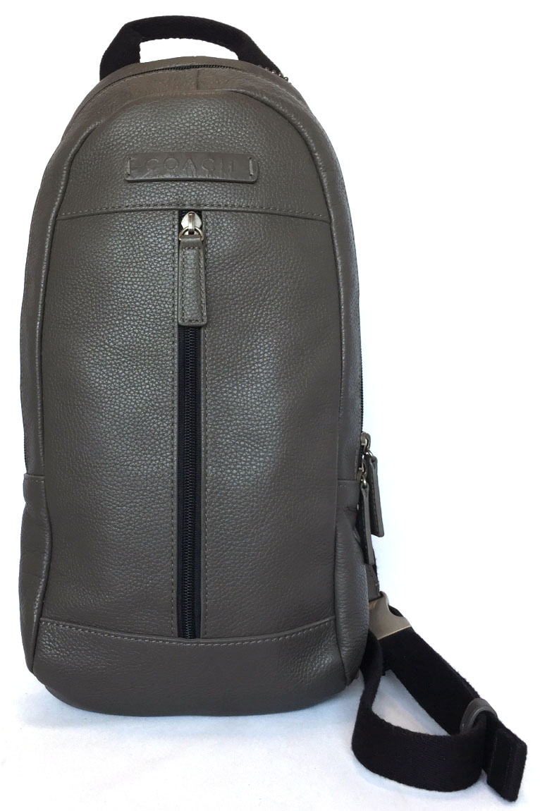 cb9dac7bf8 Coach body bag sling bag men leather gray F70691 COACH crossbody shoulder  bag Camden leather sling