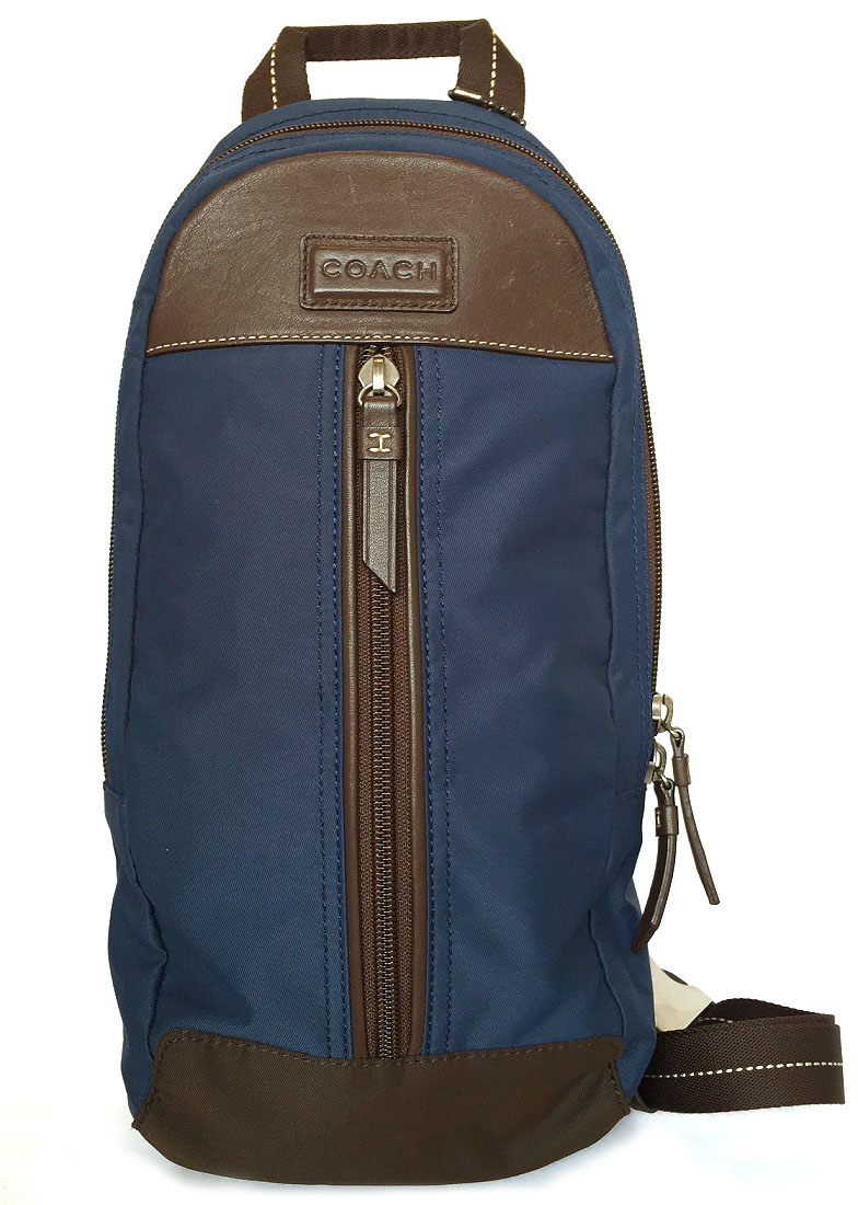 4b49f6cac92f Coach body bag sling bag men nylon blue F70692 COACH crossbody shoulder bag  navy