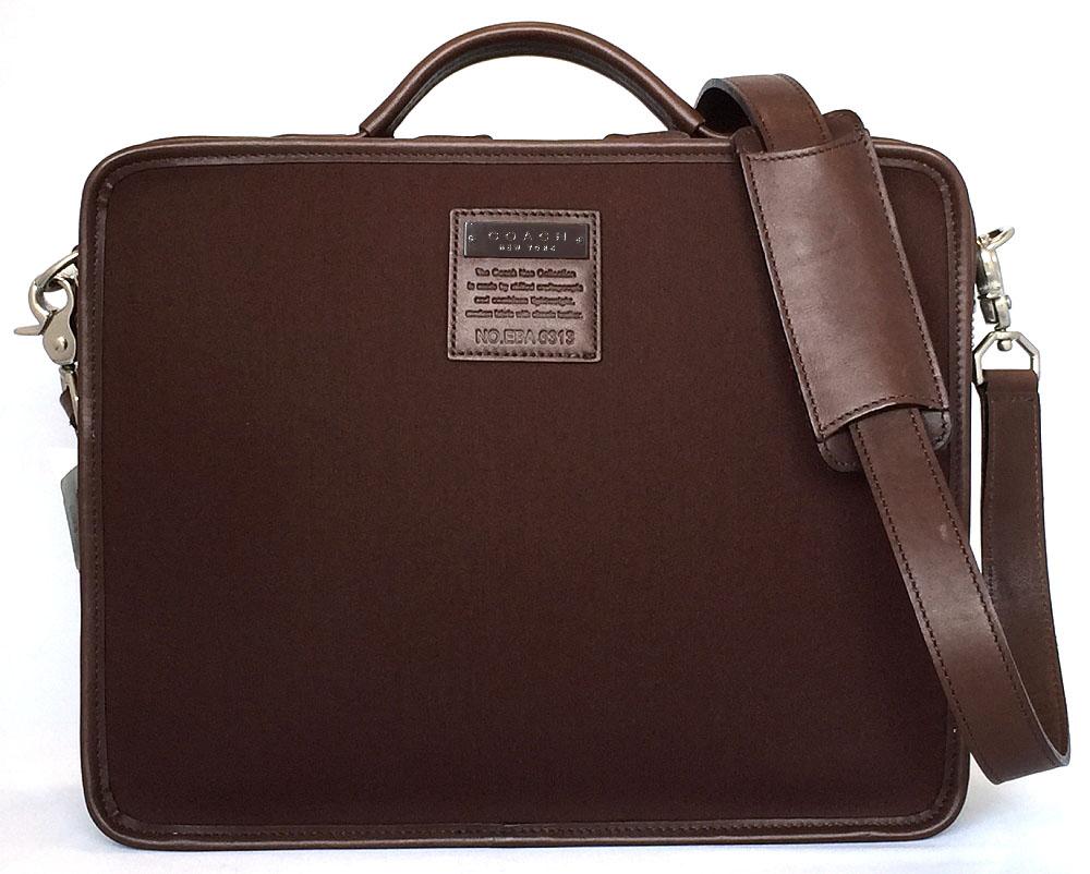 7800366975 Beautiful article coach 2WAY briefcase business bag brown brown business  case Lady s COACH shoulder bag men