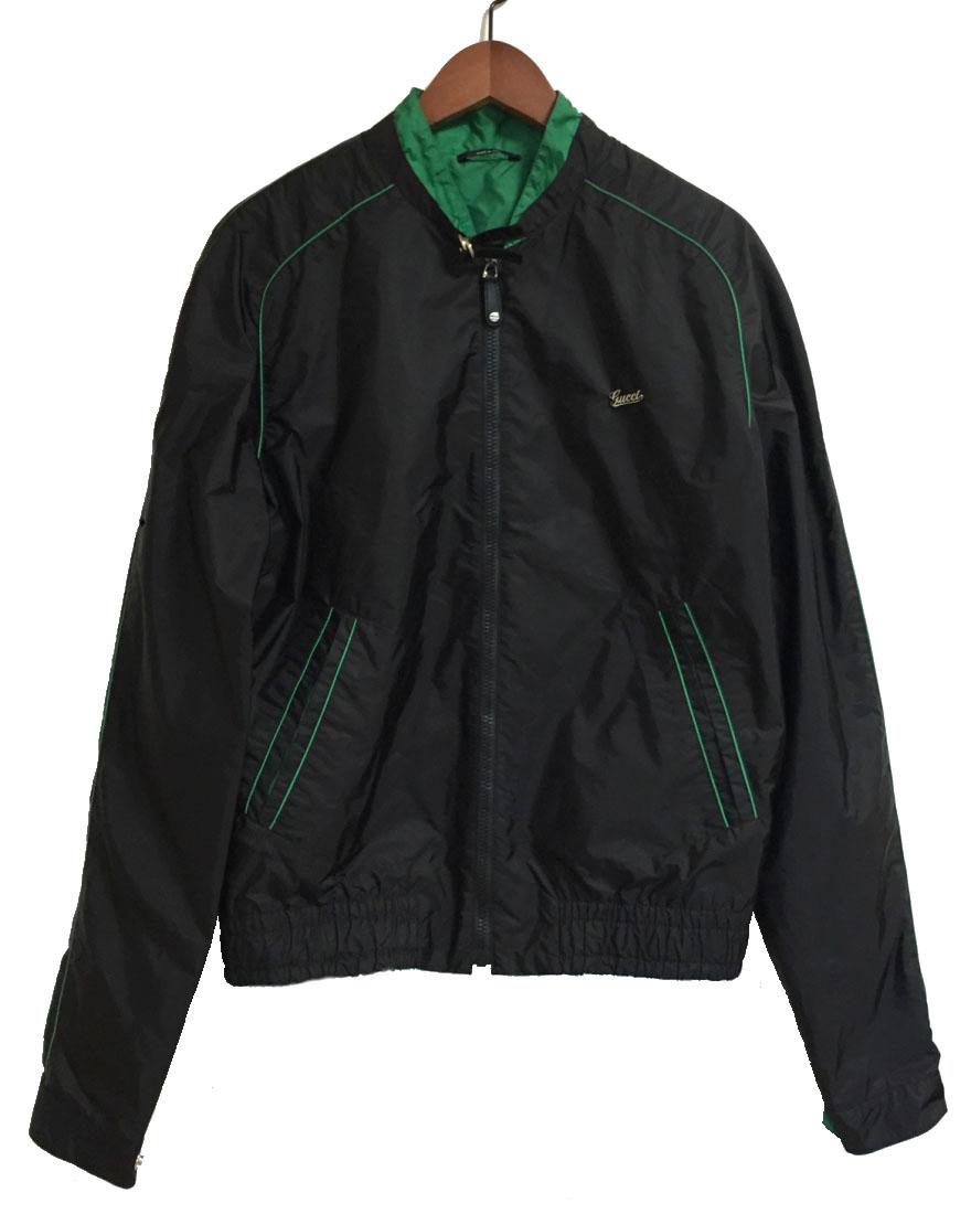 a3acd8cb4459 Gucci blouson jacket men M black black green logo GUCCI nylon 50 logo jacket  apparel gucci