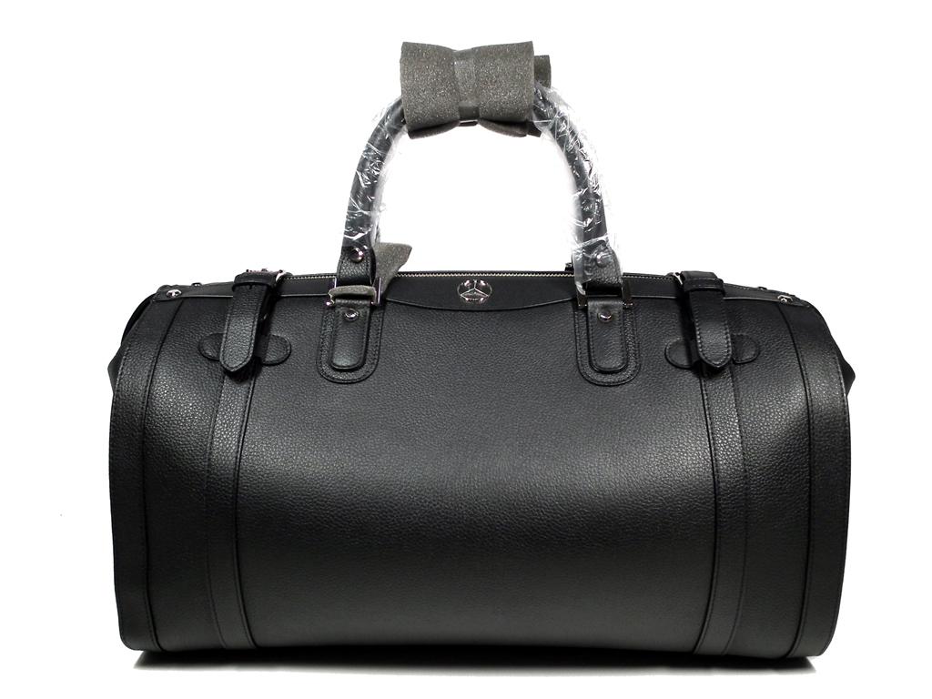Unused Gold File Mercedes Benz Boston Bag Benz Boston Leather Trip Bag Men  Genuine Leather
