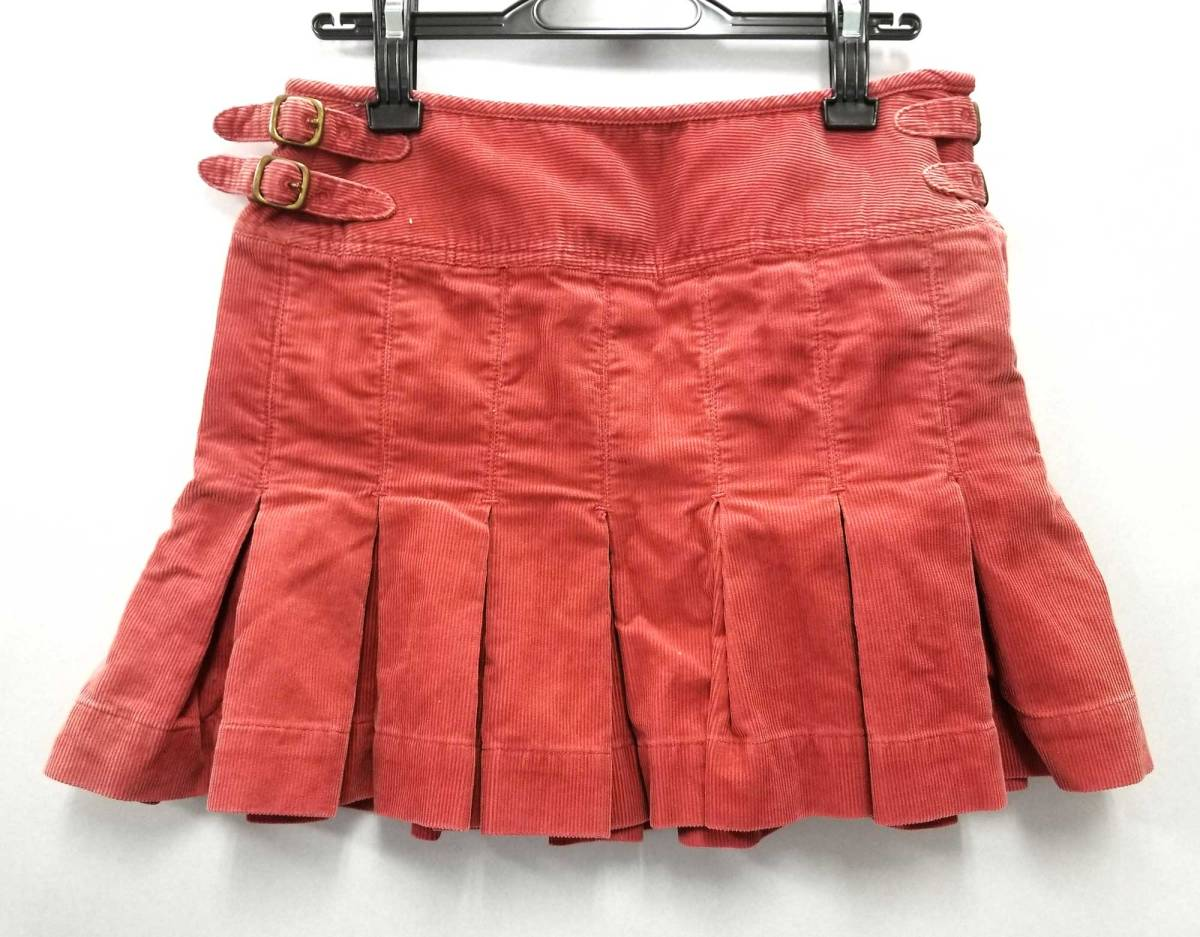 pretty cool elegant in style 60% cheap Ralph Lauren polo jeans skirt miniskirt corduroy red system color 2 flare  red beauty product