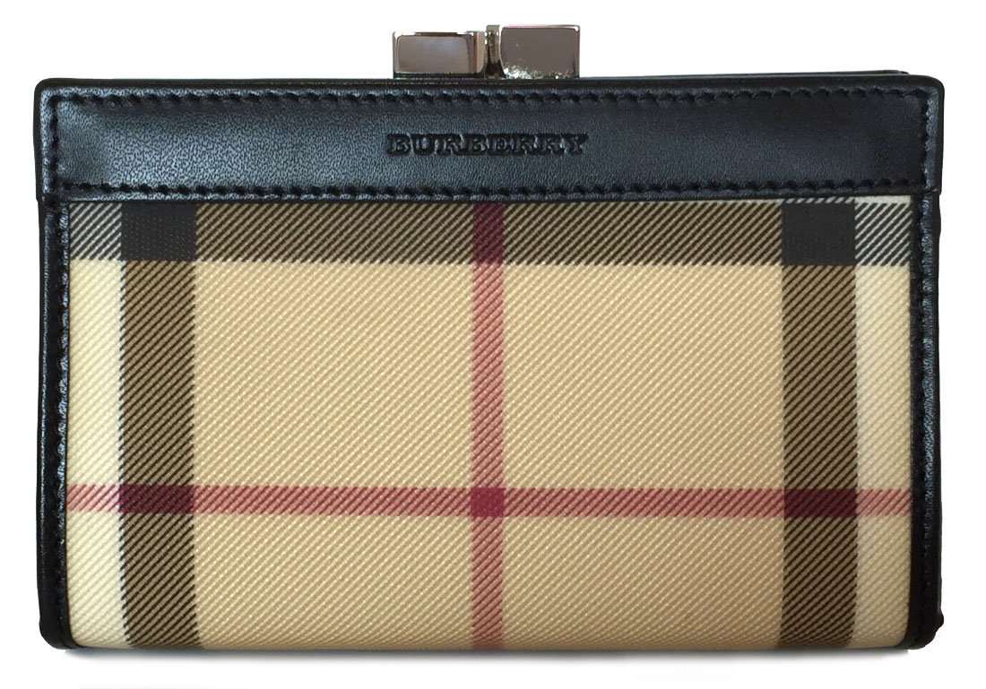 165b3ef86275 Unused Burberry coin case pouch coin purse check beige BURBERRY wallet  Lady s Novacek pouch