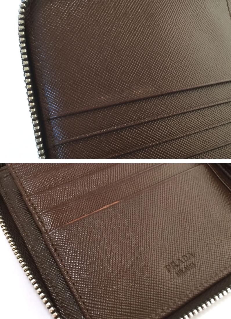 f87cb148f907 ... promo code for the prada long wallet men round fastener wallet brown  leather 2m1264 prada genuine