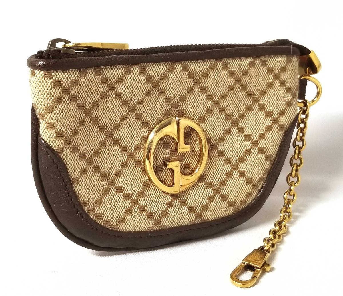 b901b14ebc0 Mini porch Lady s beige 252042 GUCCI with Gucci coin case coin purse GG  Diamante chain