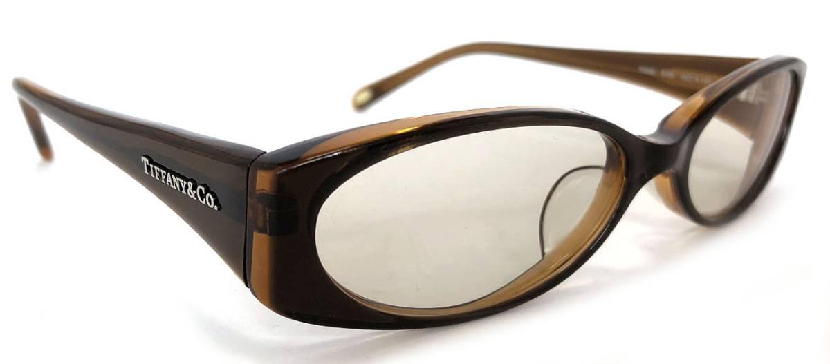 ティファニー メガネ めがね フレーム メガネフレーム ブラウン ロゴ レディース 細身 眼鏡 TIFFANY めがねフレーム 眼鏡フレーム 茶色 TF2040 【中古】