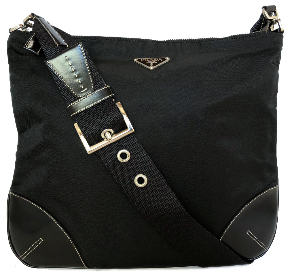 7007c2066f68ec Take Prada shoulder bag slant, and take black black nylon leather men gap  Dis PRADA slant; a shoulder man and woman combined use triangle plate