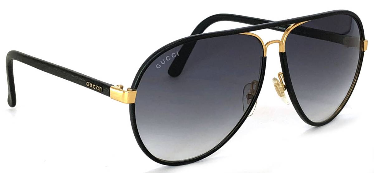 7a71bae3de Gucci sunglasses teardrop men black black pilot leather GG2887 beauty  product GUCCI logo