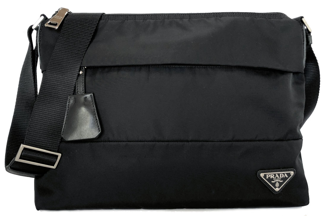 ec2c67046e8598 I take Prada shoulder bag black nylon slant and take messenger black black  BT0740 men gap ...