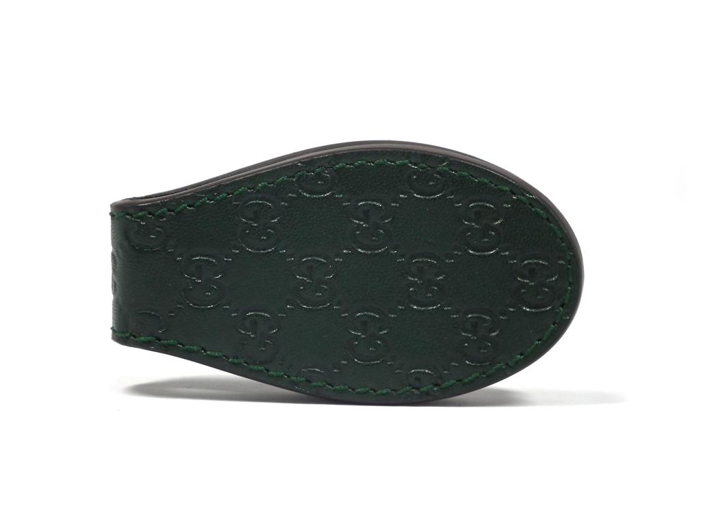 e3076c2ab9df Like-new Gucci money clip Gucci sima 199928 Midori Green label scissors  GUCCI building clip ...