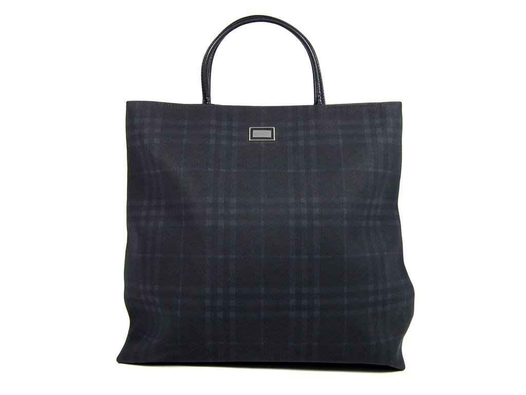 7b06e9c86c2a Brandeal Rakuten Ichiba Shop  Burberry tote bag check tote bag black ...