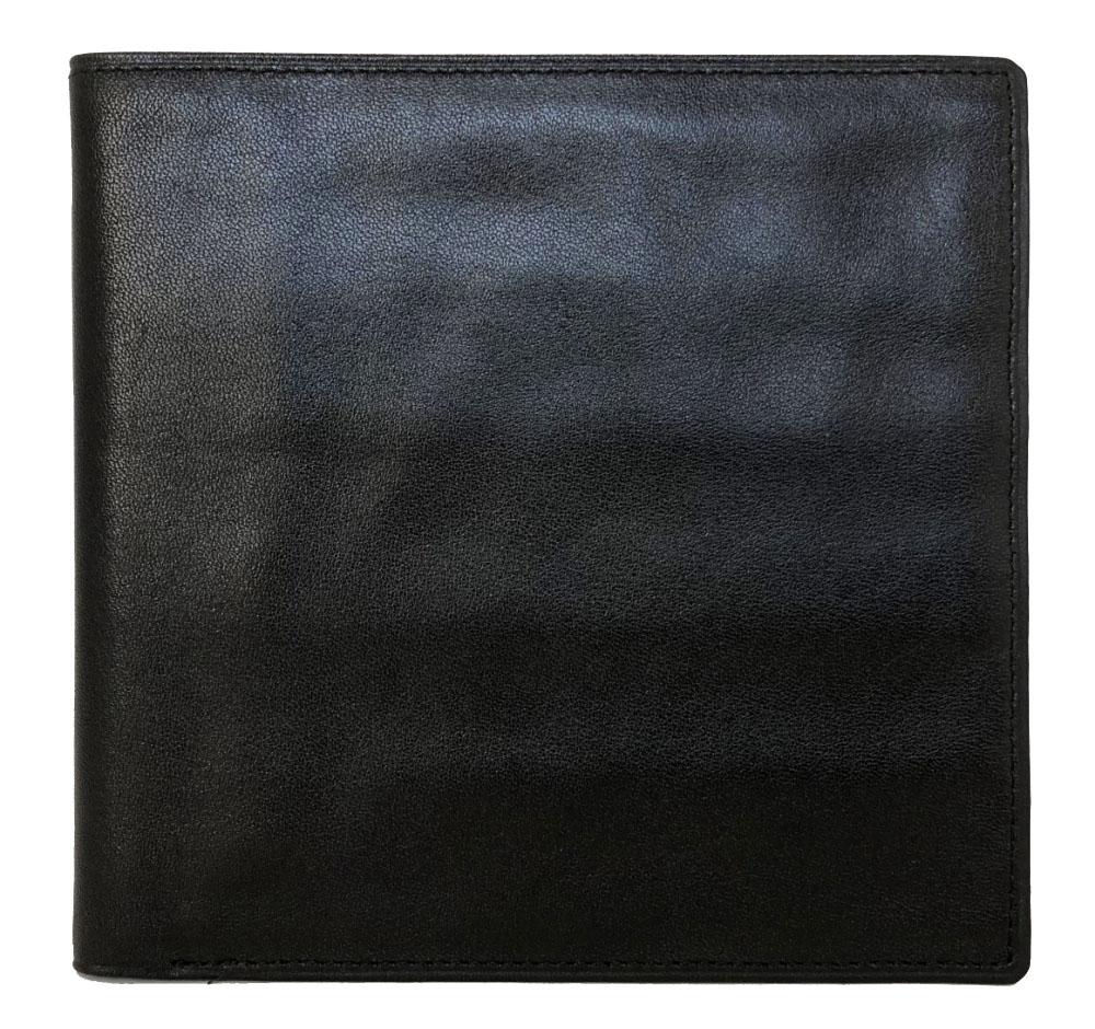 ティファニー 札入 ブラック 札入れ 黒 二つ折り レザー メンズ 財布 TIFFANY 本革 二つ折り財布 二つ折り札入れ シンプル 紳士 【中古】