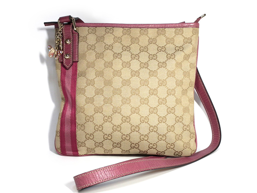 b9486f4a32f8 Take Gucci shoulder bag slant; butterfly beige Pink Lady's GG GG canvas  144388 GUCCI belonging ...