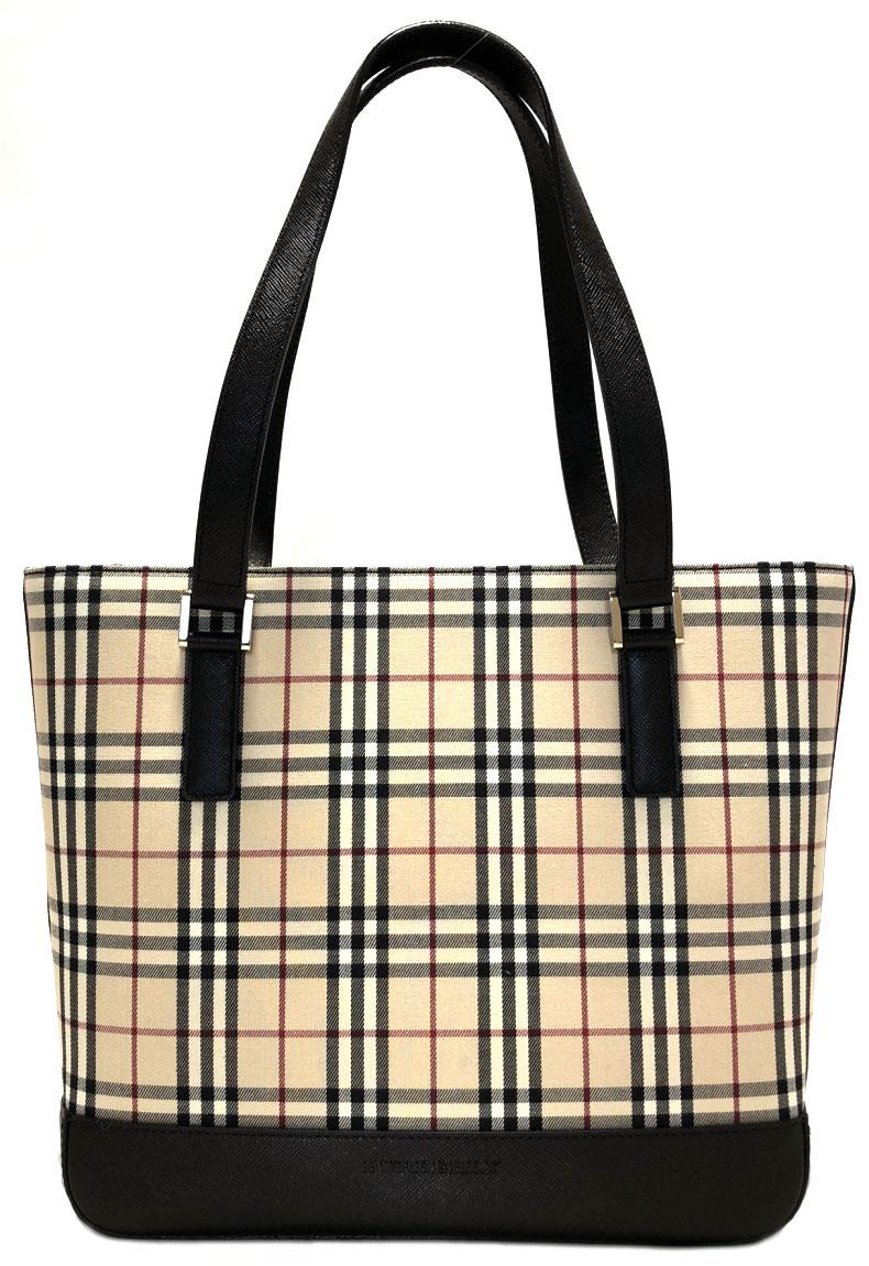 Like-new Burberry tote bag Thoth check beige canvas leather Lady s shoulder bag  handbag BURBERRY Novacek 5fade5d81d724
