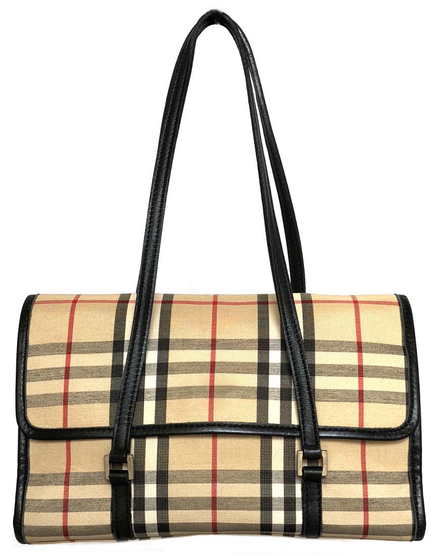 Burberry blue label mini-bag handbag party bag check beige party bag lunch bag  lady quality goods BURBERRY Novacek canvas ca0f19fd38e68