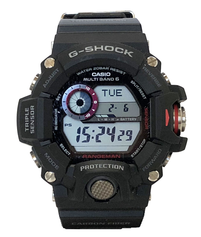 新品同様 カシオ Gショック レンジマン GW-9400J-1JF ソーラー電波 国内仕様 メンズ CASIO G-SHOCK RANGEMAN 腕時計 時計 メンズウォッチ ブラック 黒 ウォッチ 【中古】
