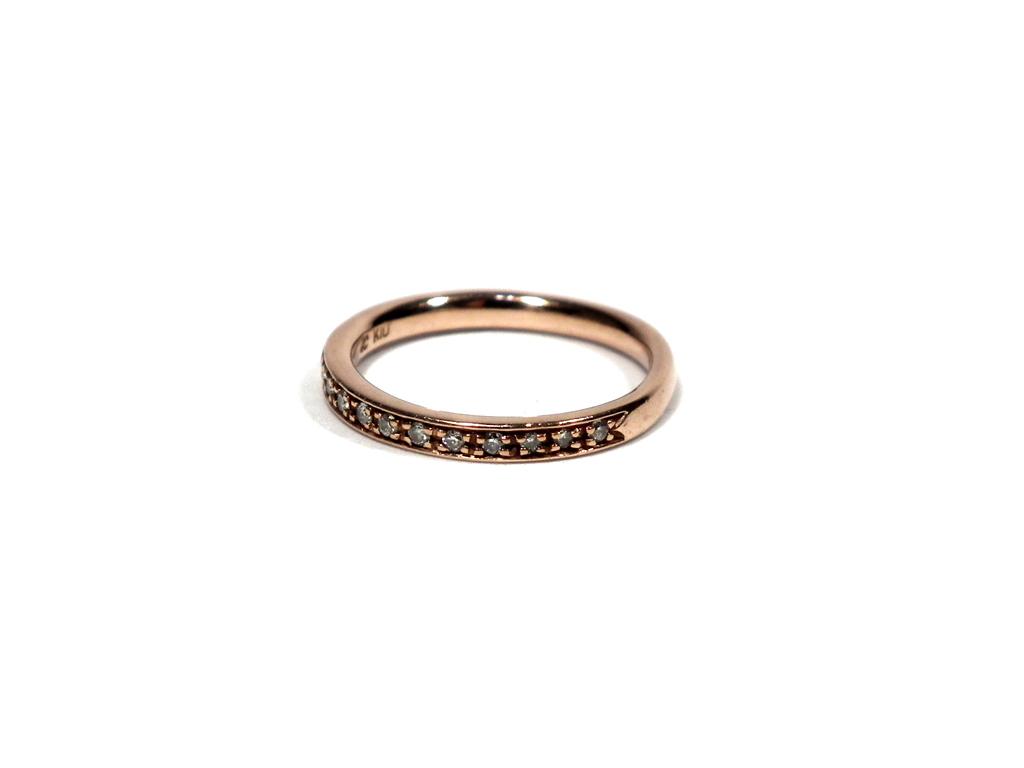 4℃ ヨンドシー 指輪 ピンキーリング K10 10金 ゴールド ダイヤ ダイヤモンド ダイヤ レディース 4ドシー 【中古】