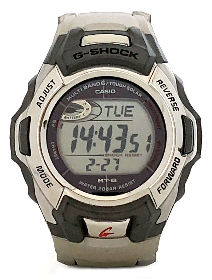 新品同様 カシオ Gショック MT-G MTG-M900DA 電波ソーラー 電波時計 メンズ ソーラー時計 紳士用 G-SHOCK シルバー CASIO メンズウォッチ 腕時計 時計 【中古】