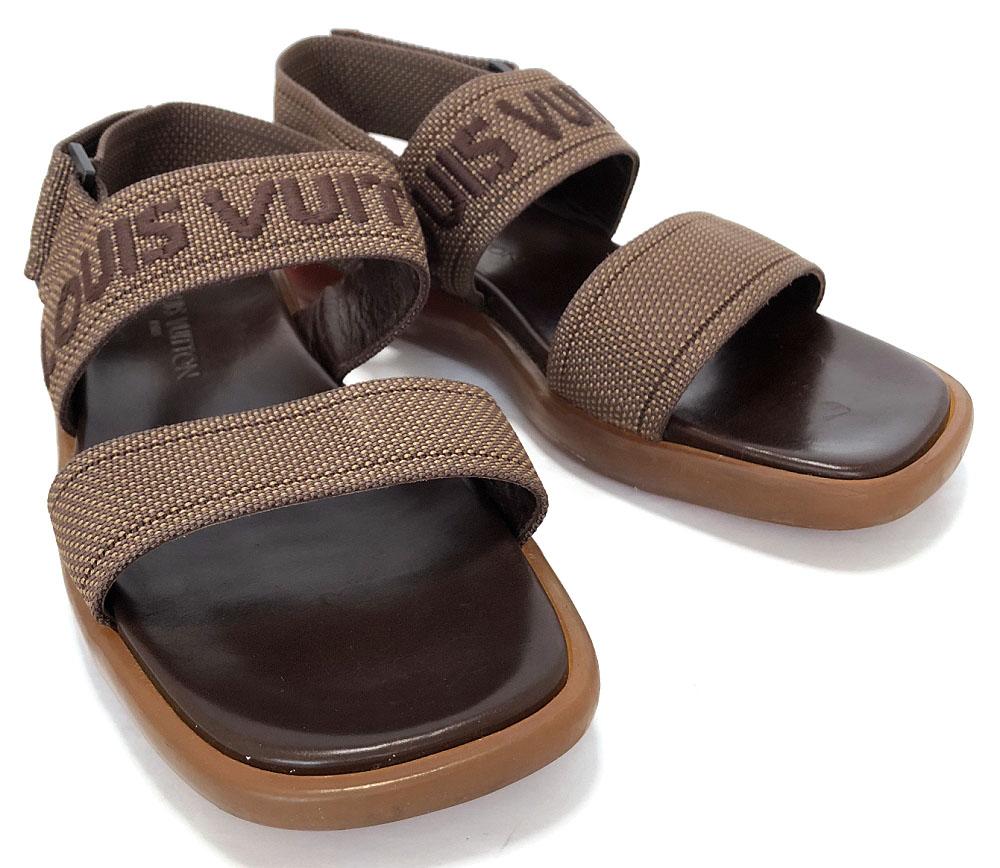 51f8e962e7d9 25cm - 25.5cm rubber sole logo LOUIS VUITTON Vuitton LV Louis Vuitton Louis  Vuitton Louis Vuitton with strap for the Louis Vuitton sandals beach sandal    6 ...