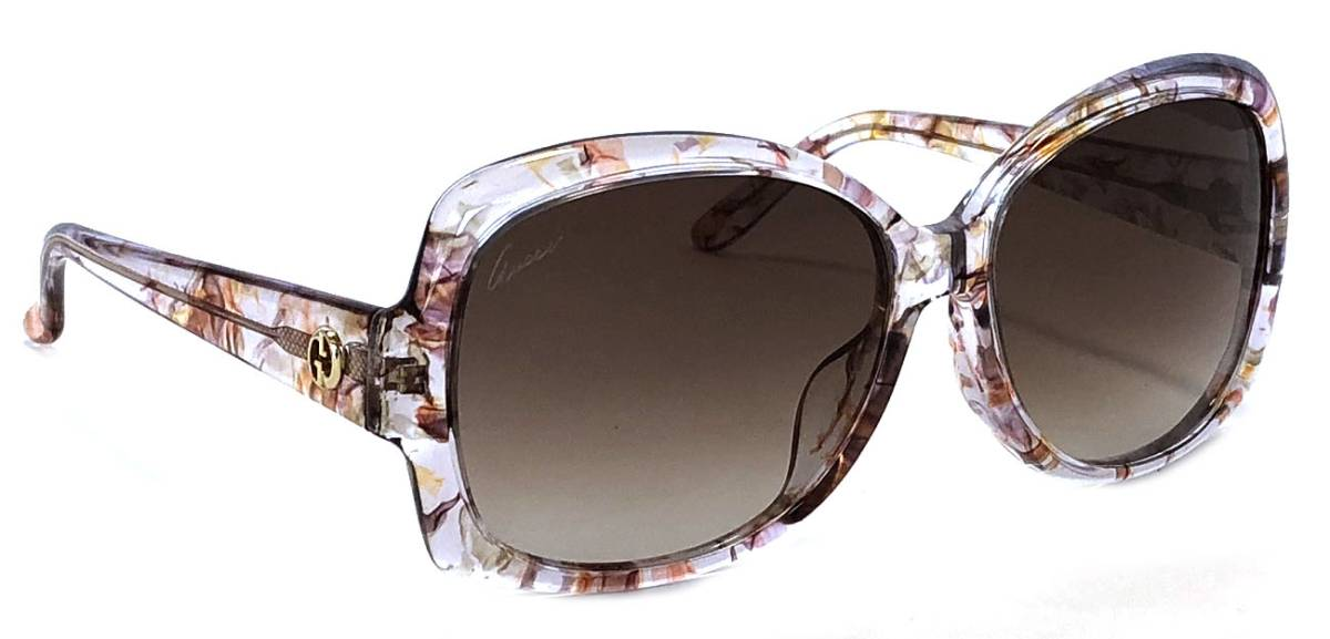 be64d91454441 Beautiful article Gucci sunglasses lady s clear spotted floral design  floral brown GG3596 GUCCI