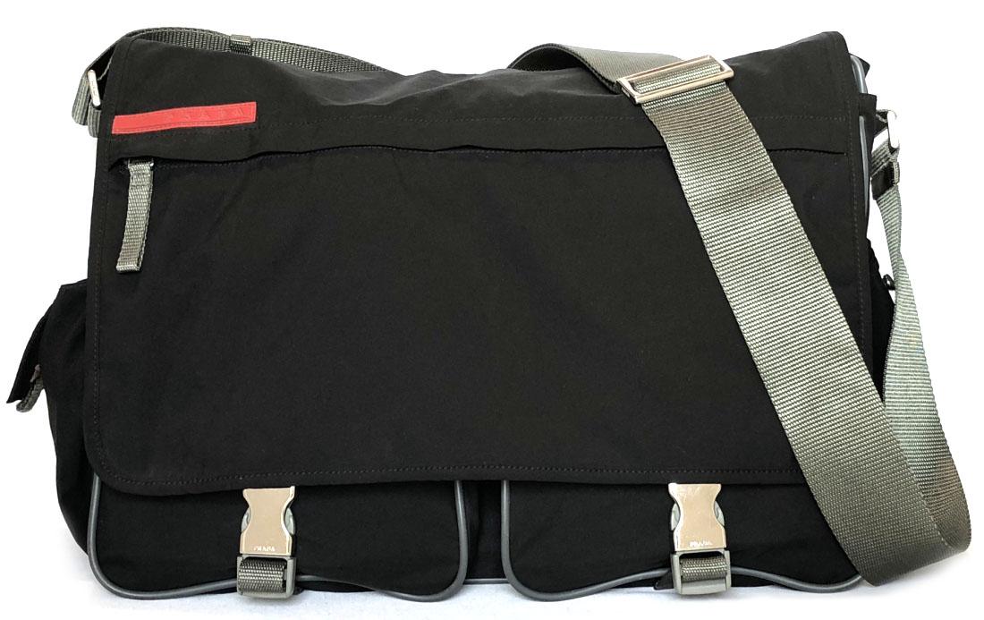 36b8f6928f ... usa take prada slant shoulder bag messenger bag shoulder bag nylon  black prada sports men black
