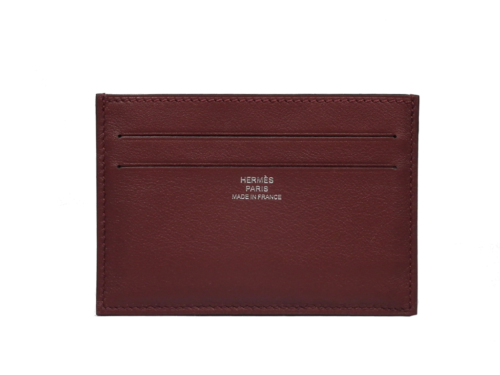 new product 79459 ffb7f Card case man and woman combined use HERMES which there is no unused Hermes  card case citizen twill card case rouge Ashe gusset in
