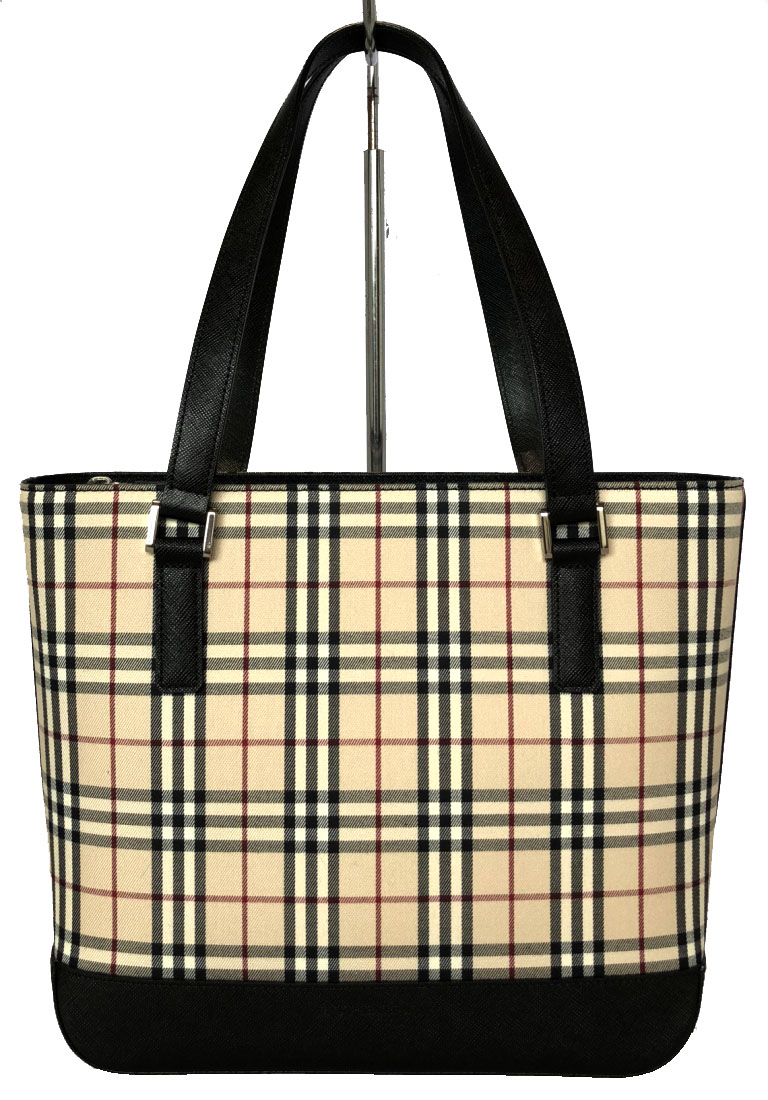 008476a810dd Brandeal Rakuten Ichiba Shop  Like-new Burberry tote bag Thoth check beige  canvas leather Lady s shoulder bag handbag BURBERRY Novacek