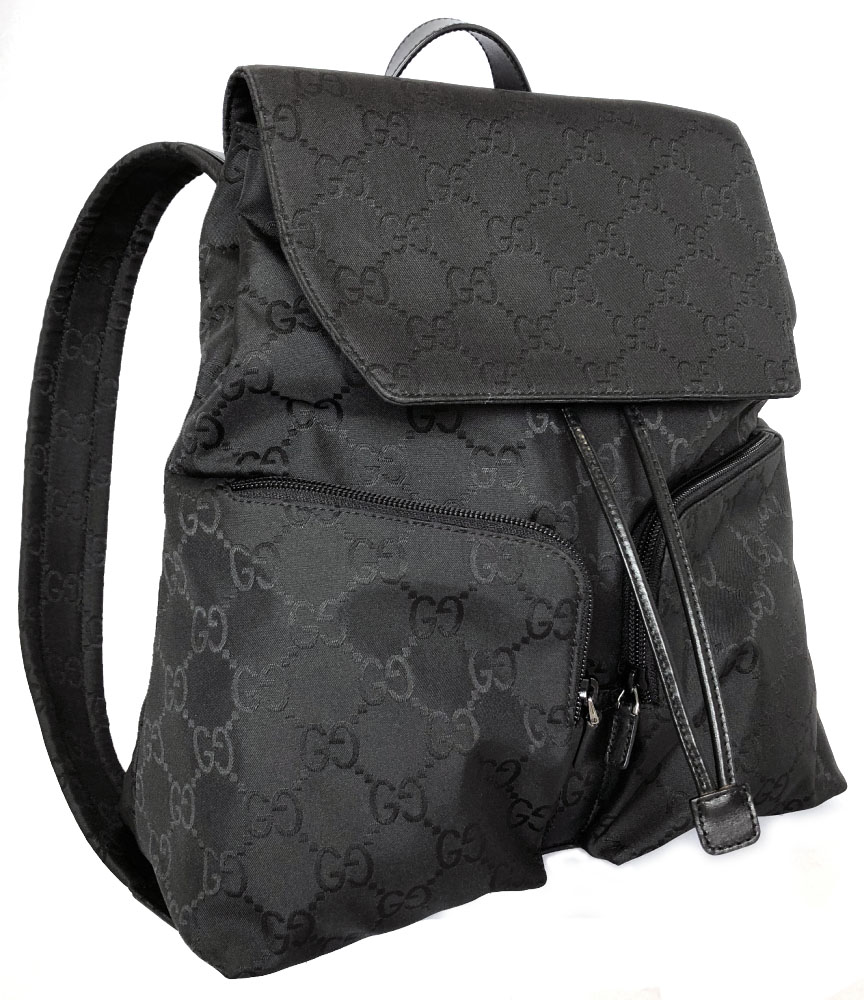 Like-new Gucci rucksack GG rucksack black black backpack Lady s GG pattern  GUCCI GG nylon nylon 003.0233.002058 360792947c158