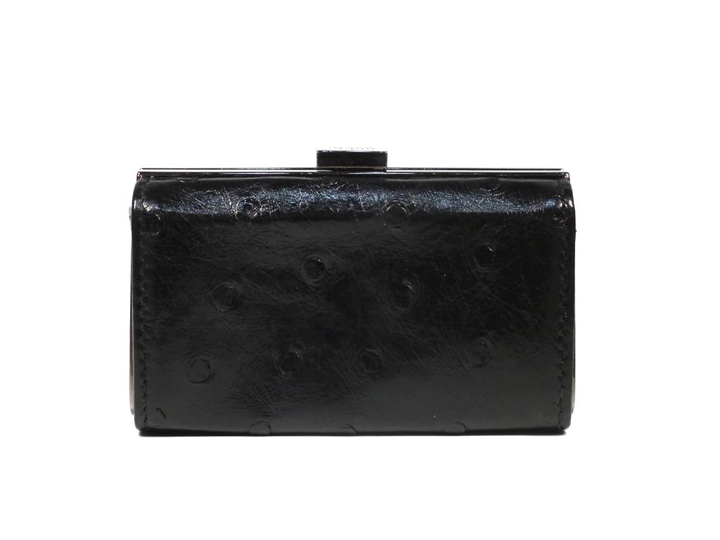 ccb19d176 Gucci coin case ostrich leather coin purse pouch black black accessory case  skippet GUCCI ...