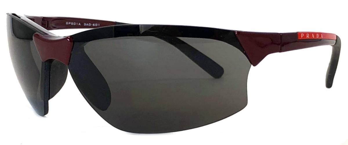 プラダ サングラス プラダスポーツ SPS01A 軽量 ボルドー スポーツサングラス 替えレンズ付き PRADA 男女兼用 メンズ レディース 【中古】