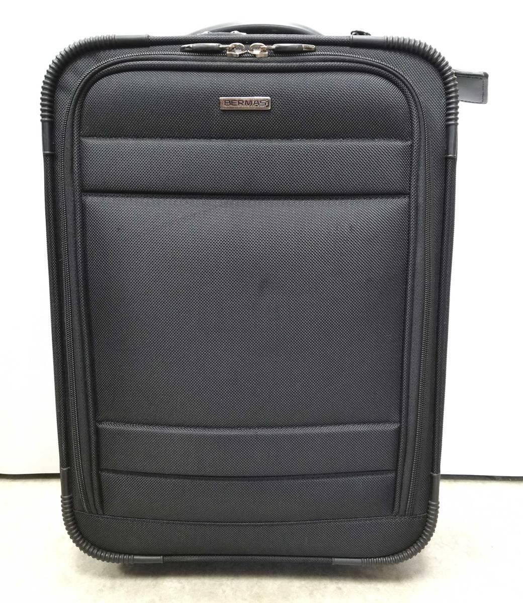 バーマス キャリーバッグ ビジネス スーツケース メンズ 旅行かばん ファンクションギア シリーズ BERMAS ブラック 黒 【中古】