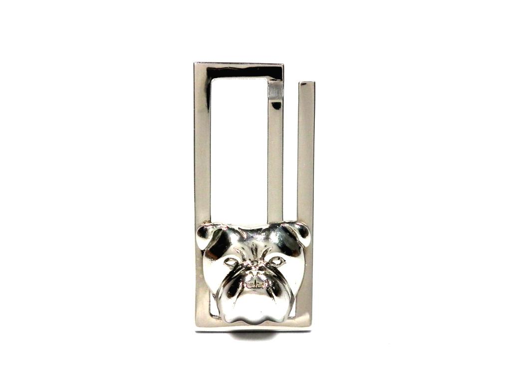 ダンヒル マネークリップ ブルドッグ アニマル 犬 SV925 シルバー製 札ばさみ ビルクリップ 銀製 Dunhill JFW8607H メンズ 紳士用  【中古】
