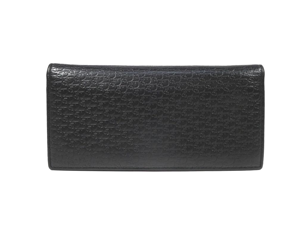 ディオールオム 長財布 ロゴ レザー ブラック 黒 本革 メンズ 財布 二つ折り コインケースあり DIOR HOMME ディオール 【中古】