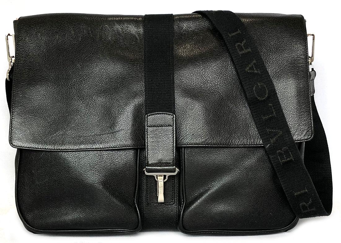 bdcac124b3af87 Take Bulgari shoulder bag messenger men leather black black covered story  book leather messenger bag BVLGARI ...