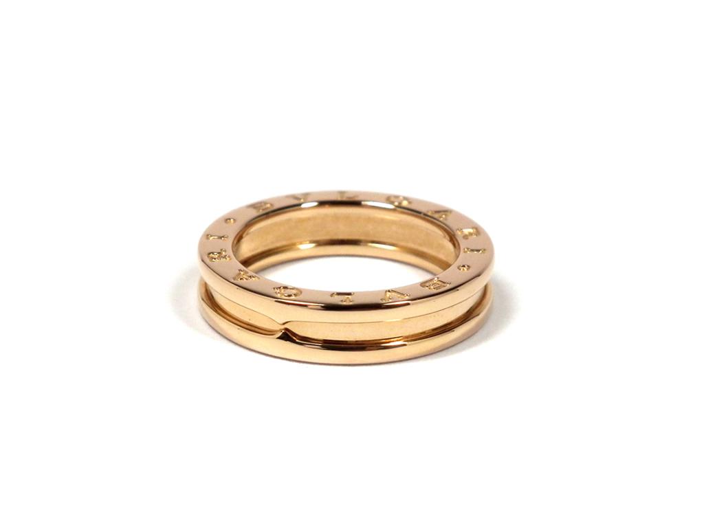 新品同様 ブルガリ 指輪 B.zero1 ビーゼロワンリング 750PG #54 ワンバンド ビーゼロワン ビーゼロ1 B-ZERO1 リング ピンクゴールド XS K18PG BVLGARI 18金 【中古】