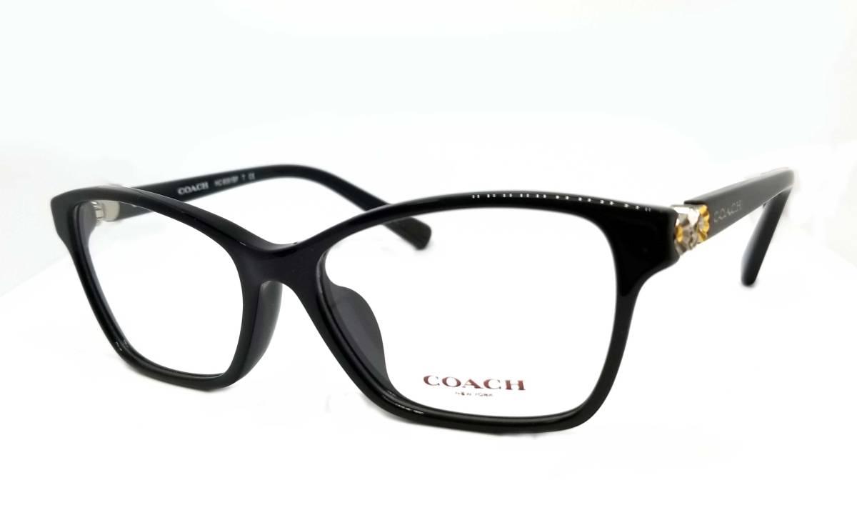 未使用 コーチ メガネフレーム ブラック 黒 めがね メガネ 眼鏡 フレーム 伊達メガネ だてめがね 53□16 135 COACH レディース 【中古】