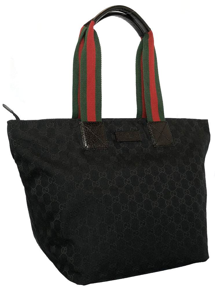 22664824547 Gucci tote bag GG canvas 131231 shoulder bag sherry color fastener small  wooden stand form Thoth black black handbag GUCCI GG black GG pattern Lady s