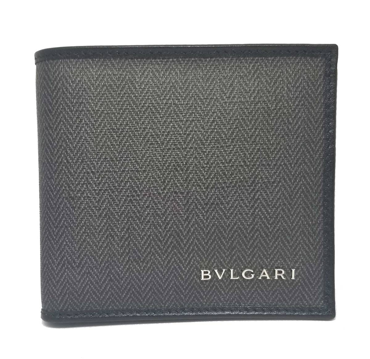 新品同様 ブルガリ 財布 ウィークエンド 二つ折り グレー 二つ折り財布 メンズ 32581 BVLGARI ウイークエンド   【中古】