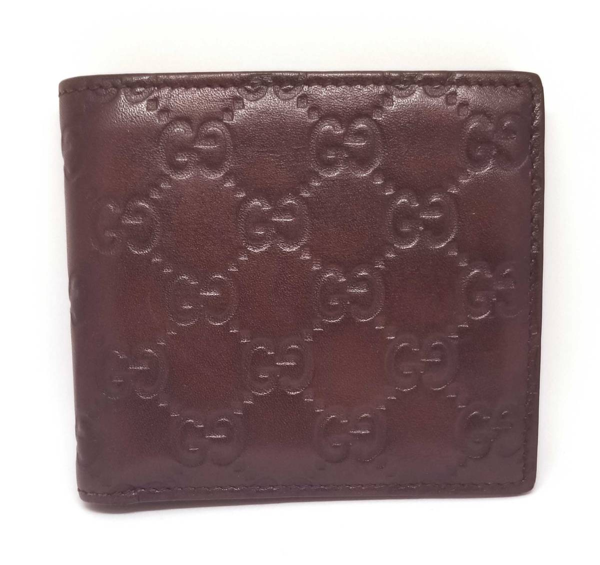 68c6e1e4c512c9 Gucci wallet men signature coin wallet GG Gucci sima leather folio dark  brown brown brown GUCCI ...