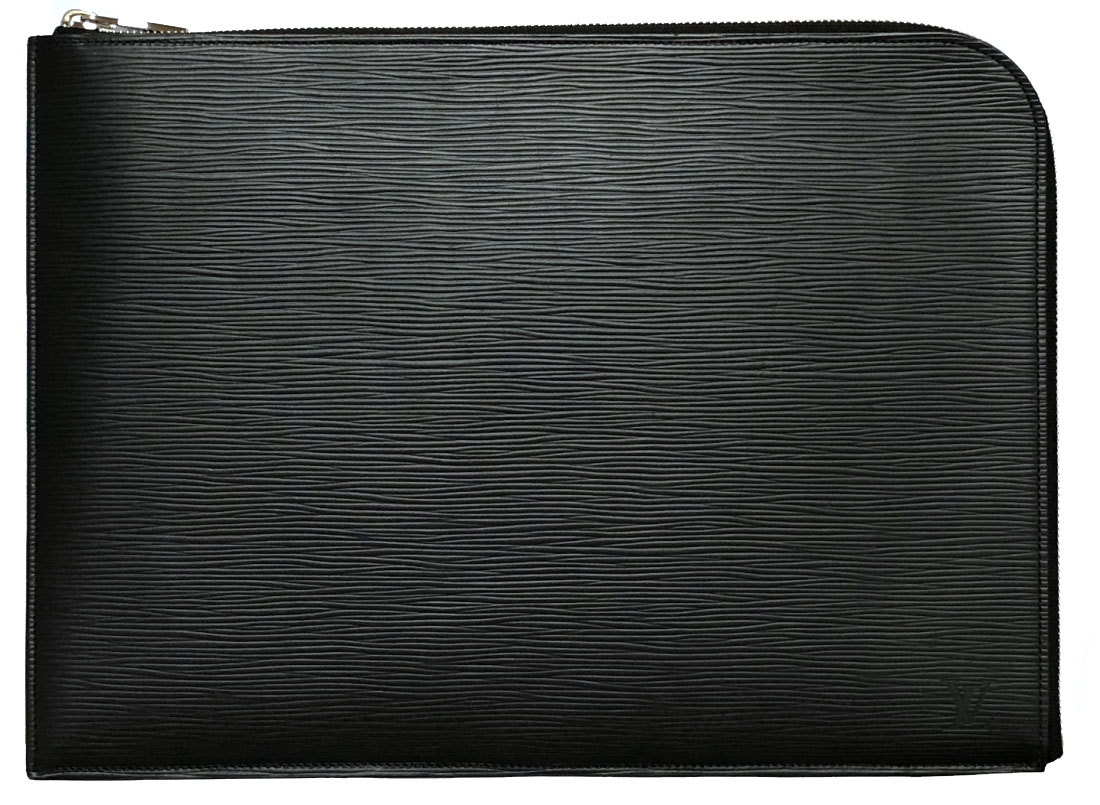 新品同様 ルイヴィトン エピ ポシェット ジュール GM M58831 レザー クラッチバッグ 書類鞄 セカンドバッグ L字ファスナー 型押し メンズ 【中古】