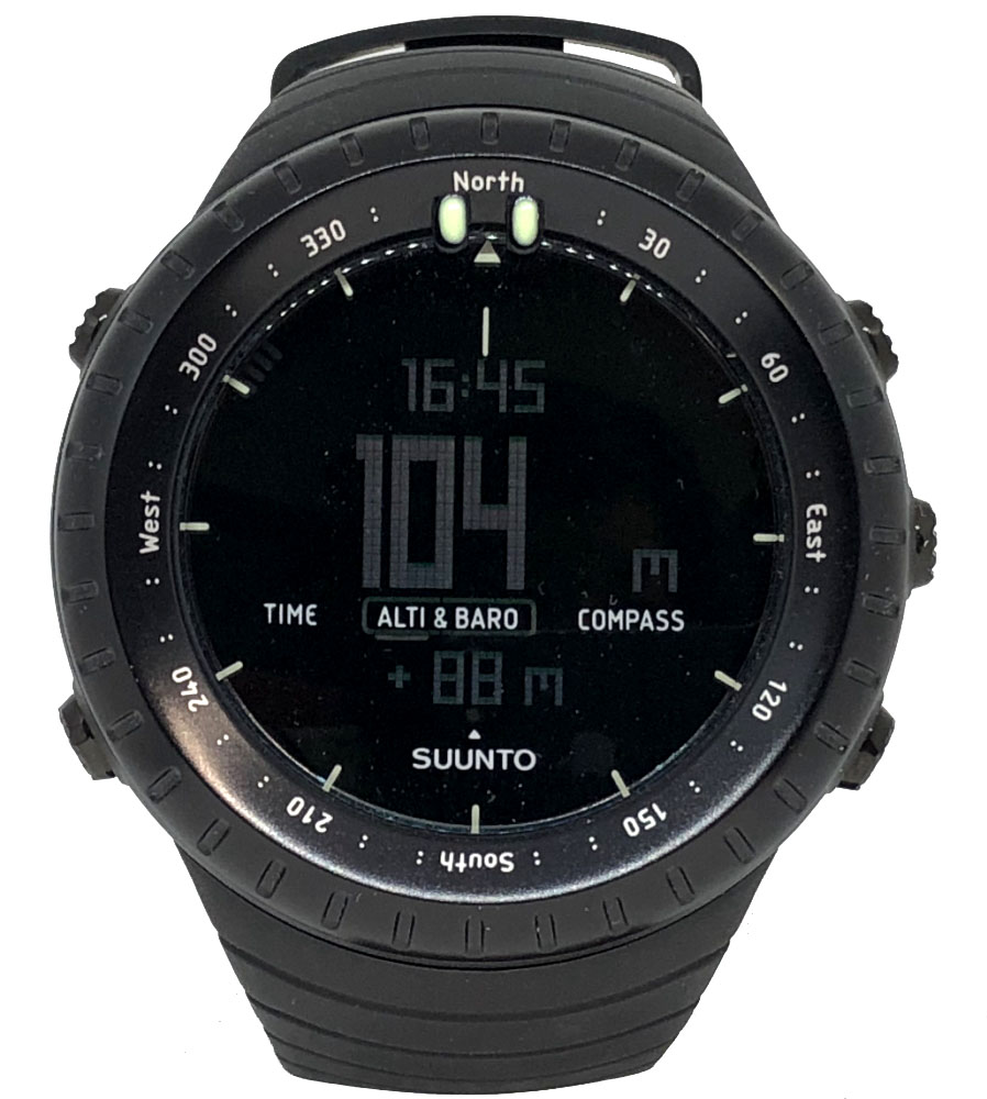 新品同様 スント コア SUUNTO CORE 腕時計 デジタル オールブラック クォーツ 黒 BLACK BLK メンズ 紳士用 ラバー ウレタン 時計 メンズウォッチ 【中古】